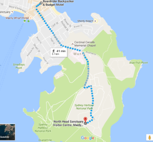 MAP TO NORTH HEAD